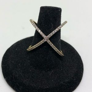 Jewelry - Sterling and Cubic Zirconia X Ring